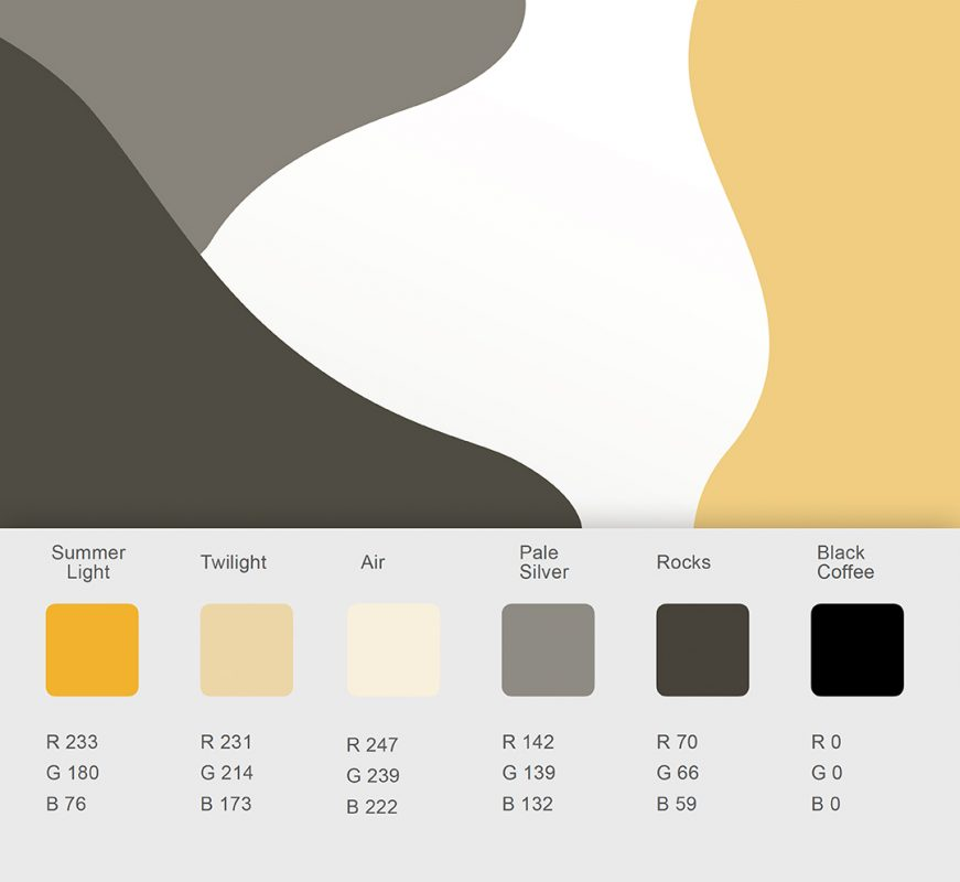 Soft shapes and natural color palate